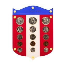 1954-1956 (5) Coin Proof Sets in Shield