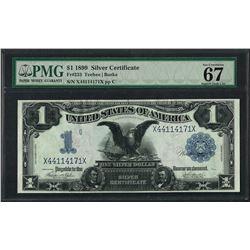 1899 $1 Black Eagle Silver Certificate Note Fr.233 PMG Superb Gem Unc. 67EPQ