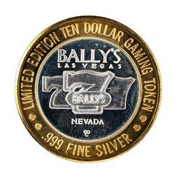 .999 Silver Ballys Las Vegas $10 Casino Limited Edition Gaming Token