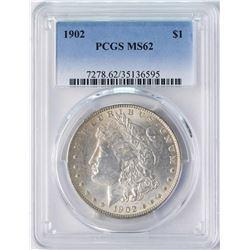 1902 $1 Morgan Silver Dollar Coin PCGS MS62