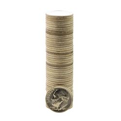 Roll of (50) Brilliant Uncirculated 1962 Roosevelt Dime Coins