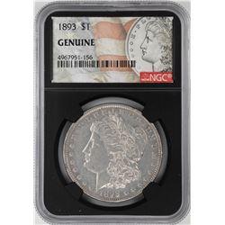 1893 $1 Morgan Silver Dollar Coin NGC Genuine