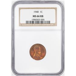 1948 Lincoln Wheat Cent Coin NGC MS66RB