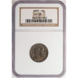 1937 Proof Buffalo Nickel Coin NGC PF65