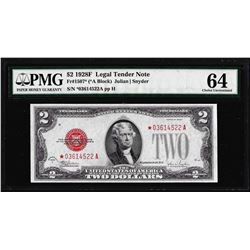 1928F $2 Legal Tender STAR Note Fr.1507* PMG Choice Uncirculated 64