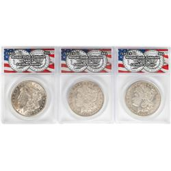 Lot of 1921-P/D/S $1 Morgan Silver Dollar Coins ANACS Certified Genuine
