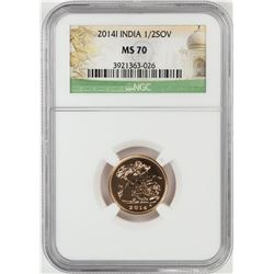 2014-I India 1/2 Sovereign Gold Coin NGC MS70