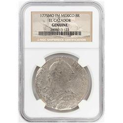 1775MO FF Mexico 8 Reales El Cazador Shipwreck Coin NGC Genuine