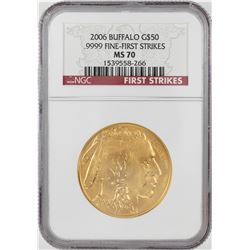 2006 $50 American Buffalo Gold Coin NGC MS70 First Strikes