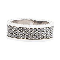 14KT White Gold Ladies 2.00 ctw Black Diamond Ring