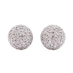 14KT White Gold 2.00 ctw Diamond Ball Earrings
