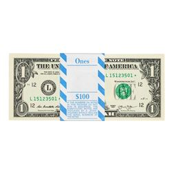 Pack of (100) Consecutive 2013 $1 Federal Reserve Star Notes San Francisco