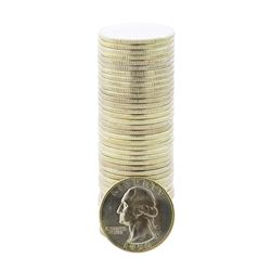 Roll of (40) Brilliant Uncirculated 1950 Washington Quarter Coins