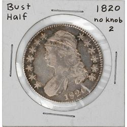 1820 No Knob 2 Capped Bust Half Dollar Coin