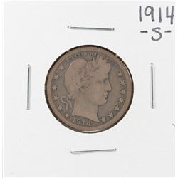 1914-S Barber Quarter Coin
