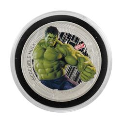 2015 Niue $2 Proof Avengers Age of Ultron Incredible Hulk Silver Coin