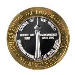 .999 Silver Stratosphere Las Vegas, Nevada $10 Casino Limited Edition Gaming Token