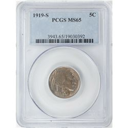 1919-S Buffalo Nickel Coin PCGS MS65