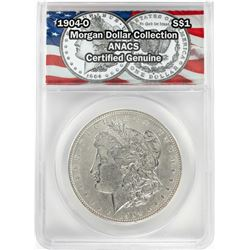 1904-O $1 Morgan Silver Dollar Coin ANACS Certified Genuine