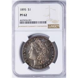 1895 $1 Morgan Silver Dollar Proof Coin NGC PR62 Amazing Color
