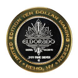 .999 Silver Eldorado Hotel and Casino $10 Casino Gaming Token Limited Edition