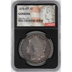1878 8TF $1 Morgan Silver Dollar Coin NGC Genuine