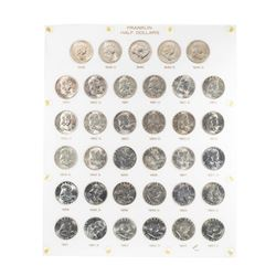 1948-1963 Franklin Half Dollar Coins in Capital Plastic