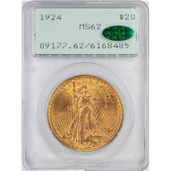 1924 $20 St. Gaudens Double Eagle Gold Coin PCGS MS62 CAC