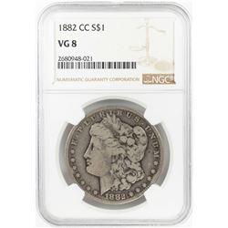 1882-CC $1 Morgan Silver Dollar Coin NGC VG8