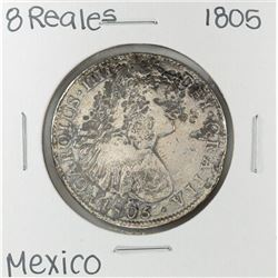 1805 Mo Mexico 8 Reales Silver Coin
