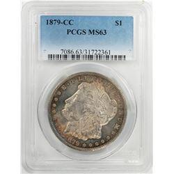 1879-CC $1 Morgan Silver Dollar Coin PCGS MS63 Nice Toning