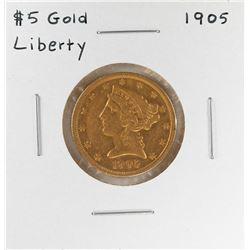 1905 $5 Liberty Head Half Eagle Gold Coin