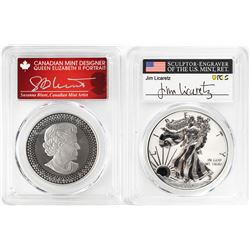 2019 Pride of Nations American Eagle & Canadian Maple Leaf Coin Set PCGS PR70 Signed