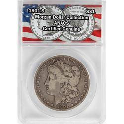 1901-S $1 Morgan Silver Dollar Coin ANACS Certified Genuine