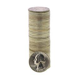 Roll of (40) Brilliant Uncirculated 1950-D Washington Quarter Coins