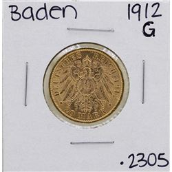 1912-G Germany States Baden 20 Mark Gold Coin