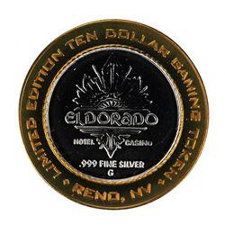 .999 Silver El Dorado Hotel & Casino Reno, Nevada $10 Limited Edition Gaming Token