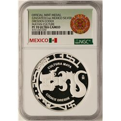 Undated Mexico Silver Dresden Codex Silver Medal NGC PF70 Ultra Cameo
