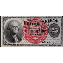 March 3, 1863 Twenty-Five Cents Fourth Issue Fractional Currency Note