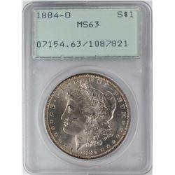 1884-O $1 Morgan Silver Dollar Coin PCGS MS63 Old Green Rattler