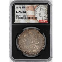 1878 8TF $1 Morgan Silver Dollar Coin NGC Genuine
