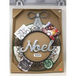 Noel Card Wreath
