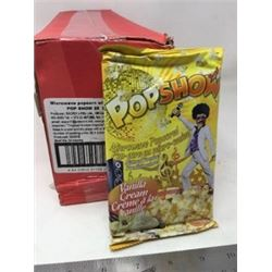 Case of PopShow Vanilla Cream Microwave Popcorn (25ct)