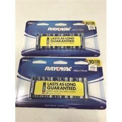 Rayovac Batteries (2 x 12 AAA)