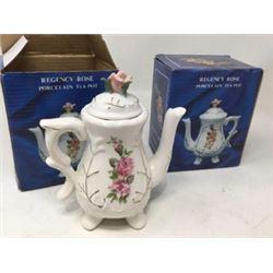 Regency Rose Porcelain Tea Pots