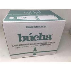 Organic Kombucha Tea-Grapefruit Sage (12 x16oz)