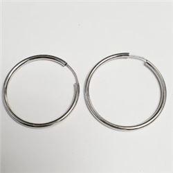 Silver Hoop Earrings, Suggested Retail Value $60