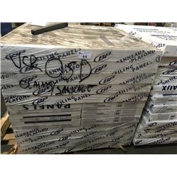 PALLET OF WOOD FIBER CEILING PANELS (16 CM X 1.22 M X 1.3 CM X 5.9 M²)