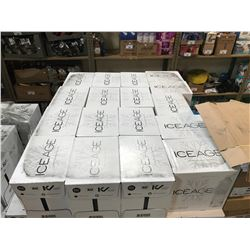 APPROX 17 BOXES OF 1L ICE AGE PURE GLACIAL WATER (12 BOTTLES PER BOX)
