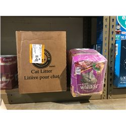 ARM & HAMMER CAT LITTER & APPROX 6 BAGS OF WHISKAS 2KG CAT FOOD